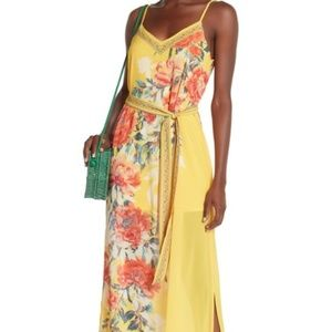 Flying Tomato Floral For Delilah Maxi Yellow Dress